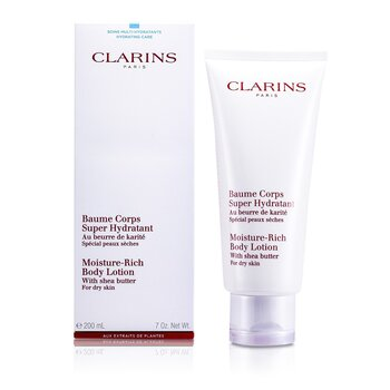 Clarins Moisture Rich Body Lotion with Shea Butter - Dry Skin