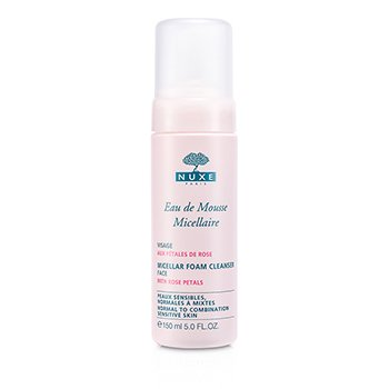 Nuxe Micellar Foam Cleanser With Rose Petals (Normal to Combination, Sensitive Skin)