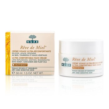 Nuxe Reve De Miel Ultra Comfortable Face Night Cream (Dry & Sensitive Skin)