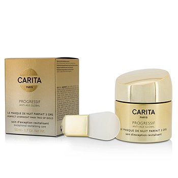 Carita Progressif Anti-Age Global Perfect Overnight Mask Trio Of Gold