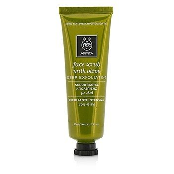 Apivita Face Scrub With Olive - Deep Exfoliating