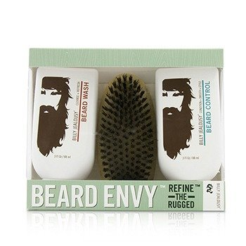Billy Jealousy Beard Envy Kit: Beard Wash 88ml + Beard Control 88ml + brush 1pcs