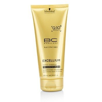 Schwarzkopf BC Excellium Q10+ Omega 3 Taming Shampoo (For Coarse Mature Hair)