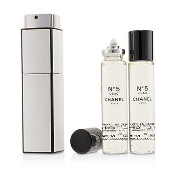 5230054b380 Chanel No.5 L Eau Eau De Toilette Purse Spray And 2 Refills 3x20ml 0.7oz No. 5