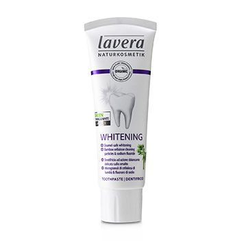 Lavera Toothpaste (Whitening) - With Bamboo Cellulose Cleaning Particles & Sodium Fluoride