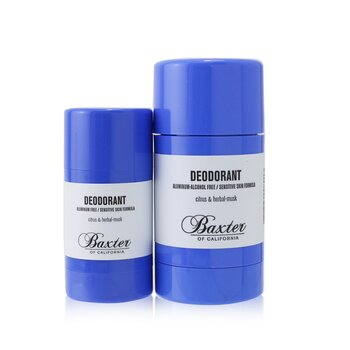 Baxter Of California Deodorant Duo Set - Aluminum & Alcohol Free (Sensitive Skin Formula)
