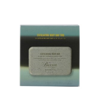 Baxter Of California Exfoliating Body Bar Trio (Cedarwood & Oakmoss Essence) - For All Skin Types