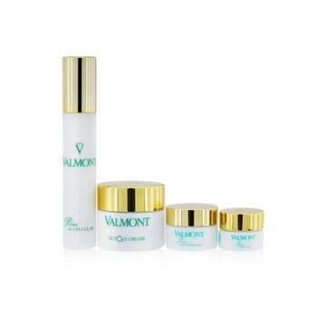 Valmont The Oxygen Symphony Set: Prime Renewing Pack 15ml + Prime B -Cellular 30ml + Prime Contour 5ml + Deto2x Cream 45ml