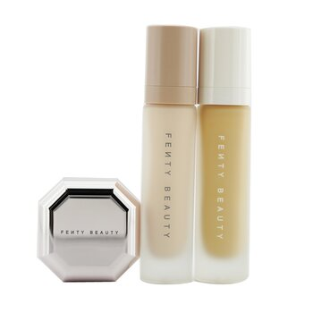Fenty Beauty by Rihanna Pro FiltR Soft Matte Complexion Kit: Foundation 32ml + Primer 32ml + Instant Retouch Setting Powder 7.8g - #210