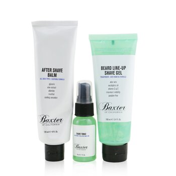 Baxter Of California Shave Essentials 3-Pieces Kit: Shave Tonic 30ml + Beard Line-Up Shave Gel 100ml + After Shave Balm 120ml